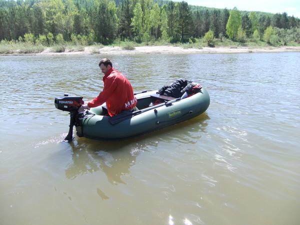 Надувная лодка ВМ300HF под мотором