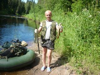 Первая рыба пойманная с FLINCом320LA