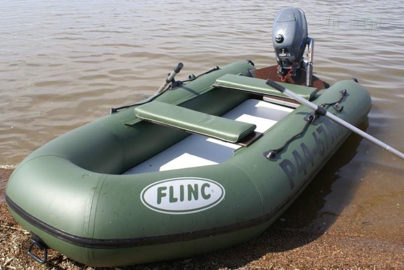 Надувная лодка ПВХ FLINC FT290LA оснащена палубой высокого давления airdeck